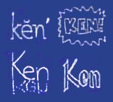 [Examples of Ken's Jeopardy! signatures]