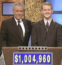 [Photo of Ken posed with Alex Trebek]